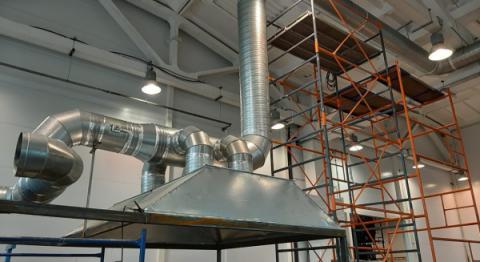 АтомИнжСервис: Монтаж вытяжной системы вентиляции в производственном цехе, Калуга